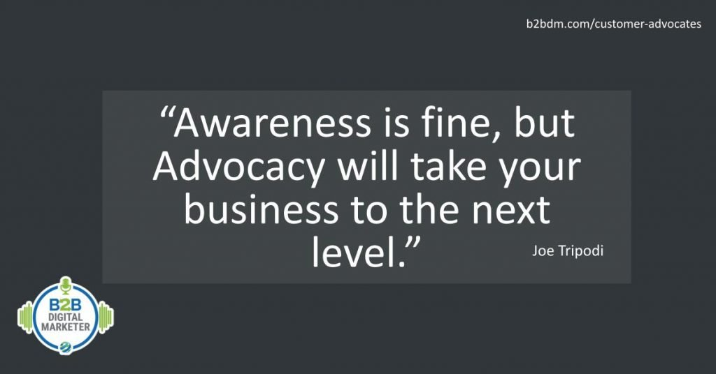 Quote about customer advocates