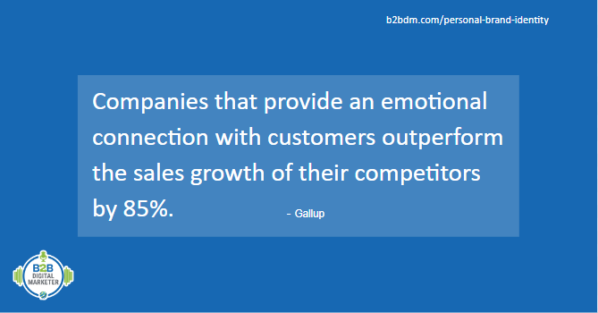Statistics for companies with emotional connection with customers