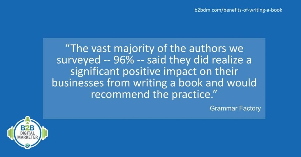 Impacts of writing a book
