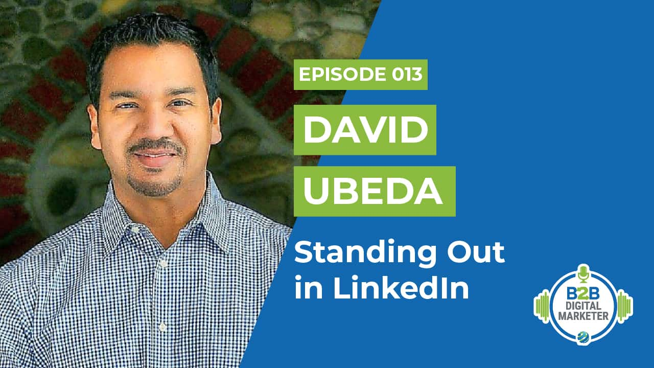 Standing out in linkedin David Ubeda